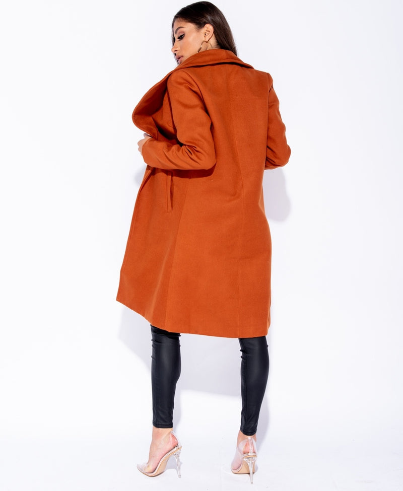 Rust Longline Duster Coat