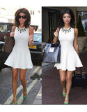 Closet Lucy Mecklenburgh Cream Dress - Party Dresses