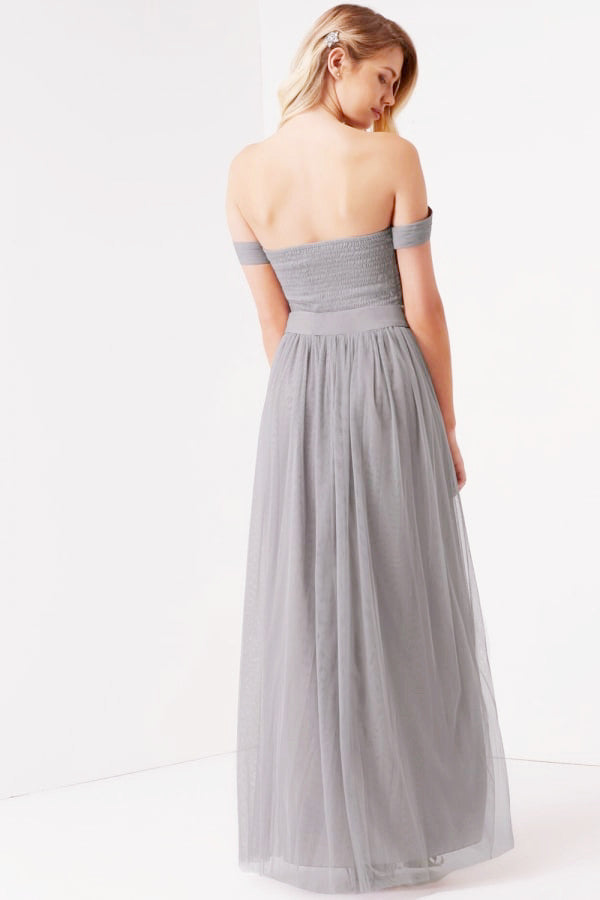 Little Mistress Waterlily Jewel Waist Maxi Dress