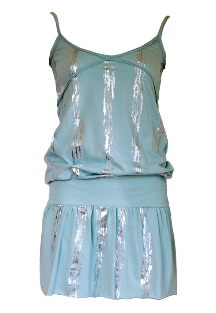 Mint Strappy Dress - Glitzy Angel