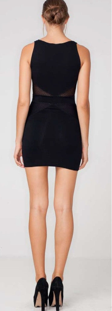Motel Black Bodycon Kelly Dress - Party Dresses - Glitzy Angel