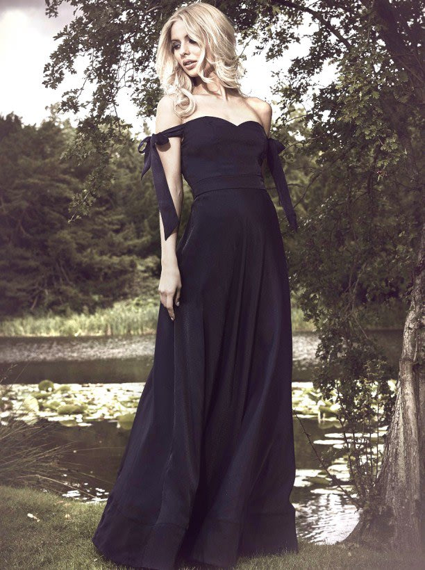 Chi Chi Rana Dress - Navy Maxi Dresses