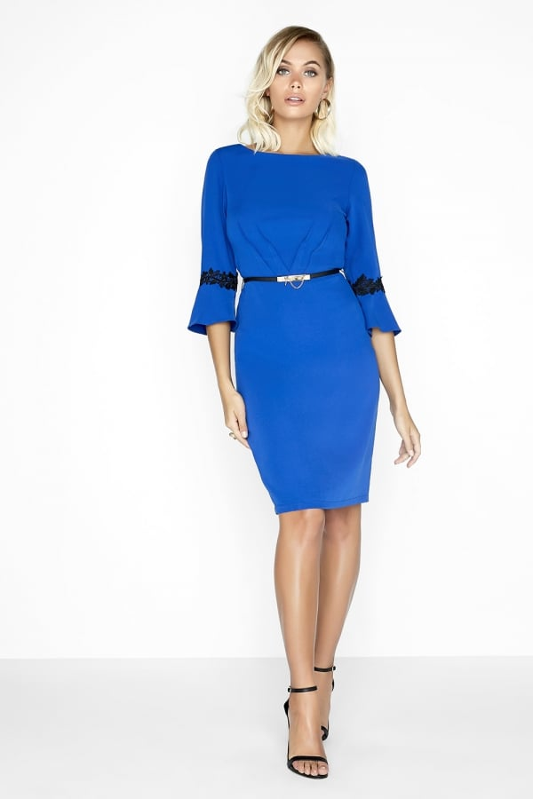 Paper Dolls Cobalt Pleat Dress