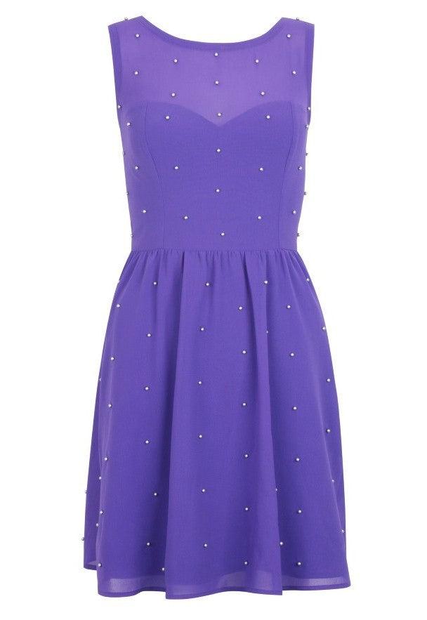 Pixie All Over Studded Dress - Glitzy Angel