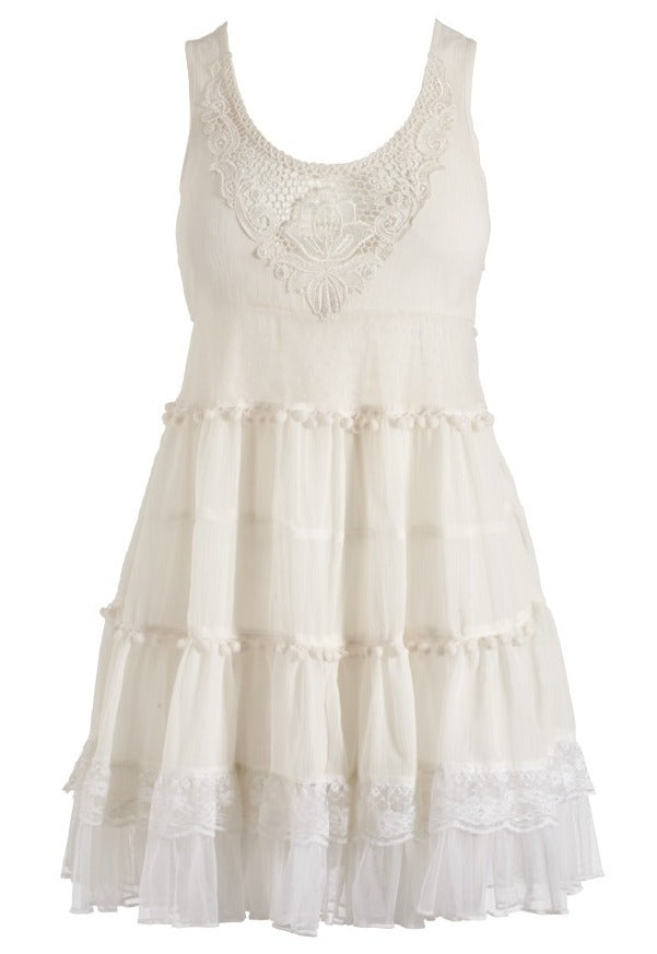 Lipsy Pixie Pom Pom Dress - Glitzy Angel