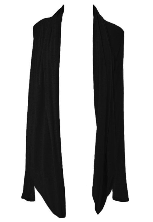 Rare Black Long Cardigan - Glitzy Angel