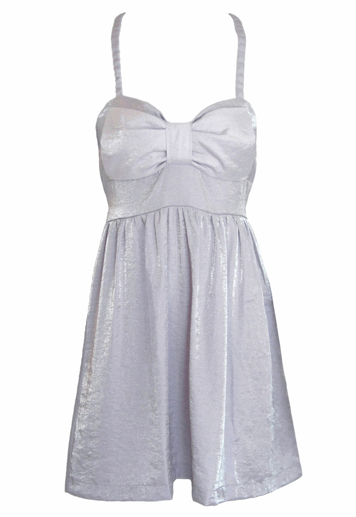 Rare Bow Metallic Dress - Glitzy Angel