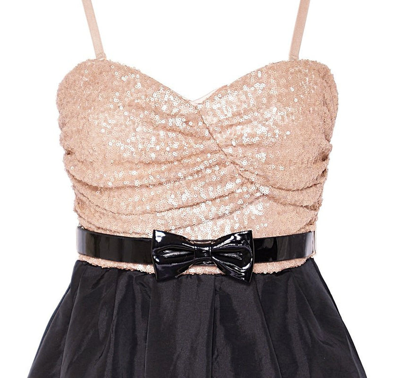 Rare Sequin Bandeau Prom Dress - Glitzy Angel
