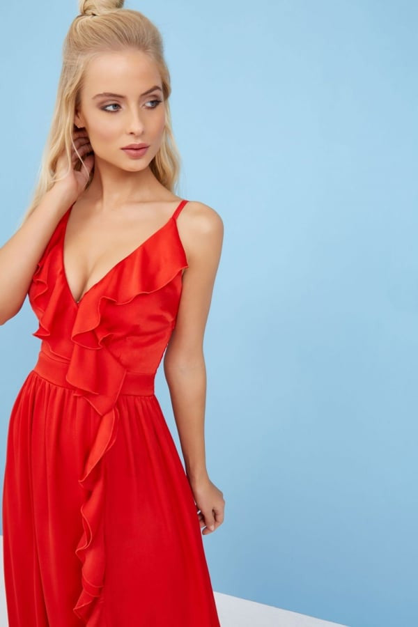 Little Mistress Red Maxi Dress - Red Maxi Dresses
