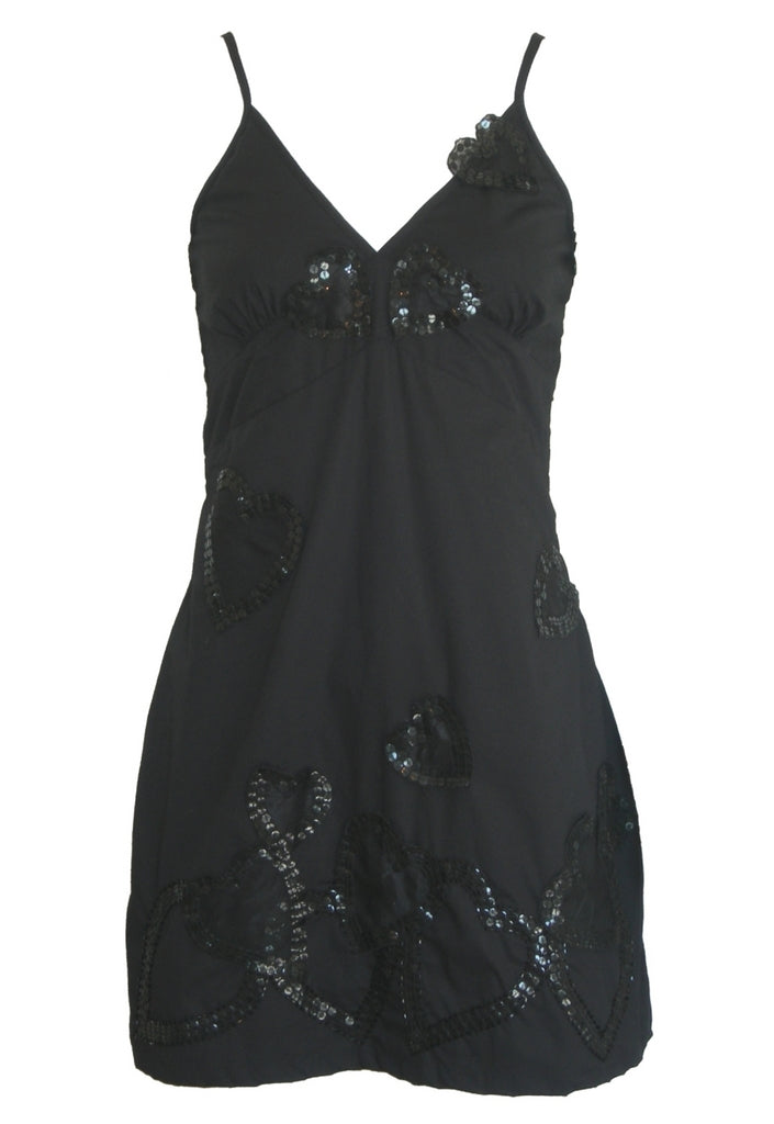 TFNC Black Hearts Dress - Glitzy Angel