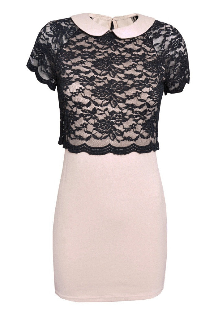 TFNC Dress With Lace Top - Glitzy Angel