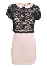 TFNC Dress With Lace Top