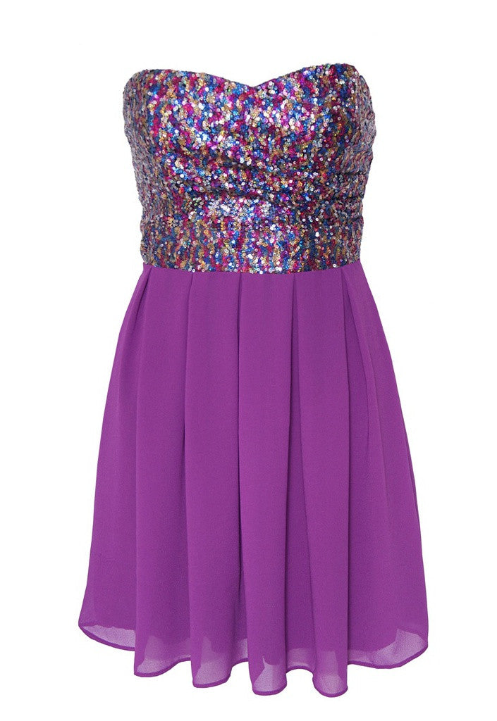 TFNC Sequin Dress - Glitzy Angel