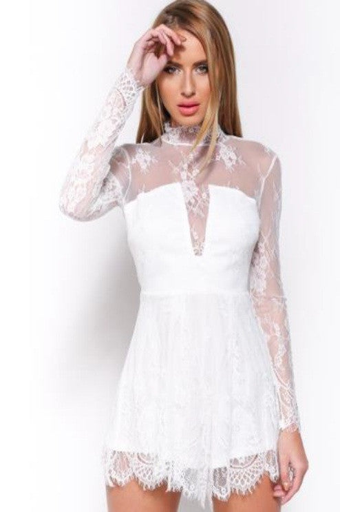 Love Triangle Victoriana Playsuit - Glitzy Angel