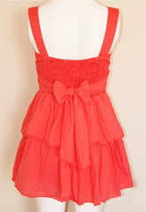Wal G 3 Button Dress - Coral