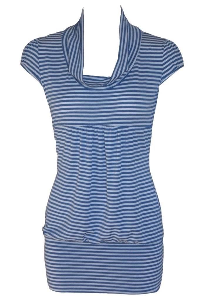 Wal G Blue & White Stripe Sailor Dress - Glitzy Angel