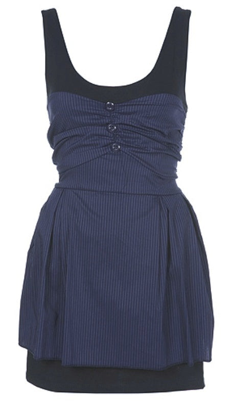 Wal G Button Pinstripe Dress - Glitzy Angel