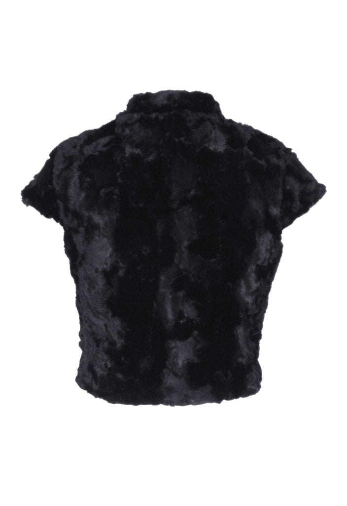Wal G Faux Fur Jacket - Glitzy Angel
