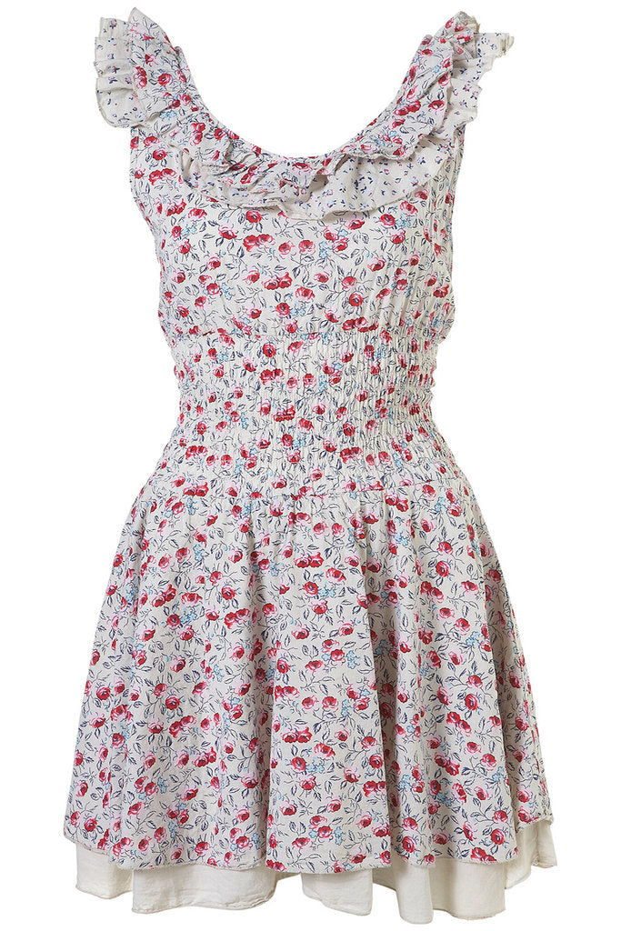 Wal G Frill Floral Dress - Glitzy Angel