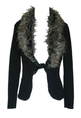 Wal G Fur Trim Cardigan