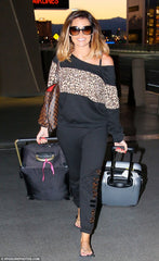 Jessica Wright Leopard Print Tracksuit