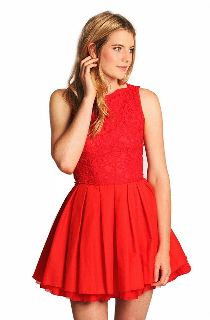 JONES & JONES AUDREY RED DRESS - Glitzy Angel