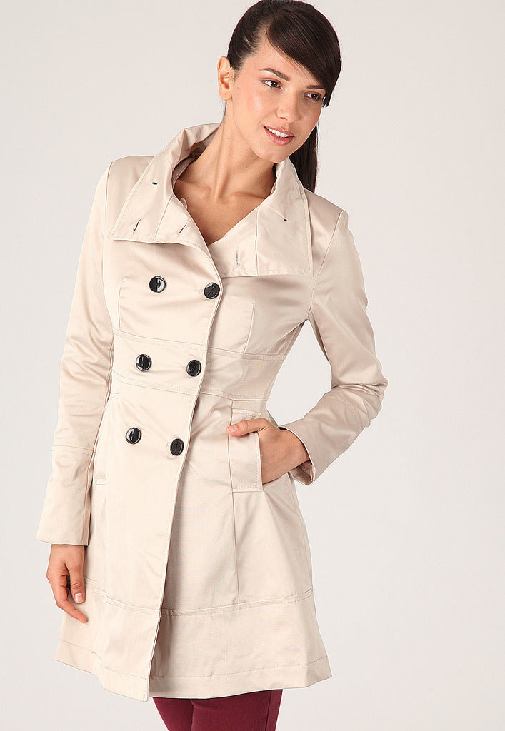 Cream Mac Coat - Glitzy Angel