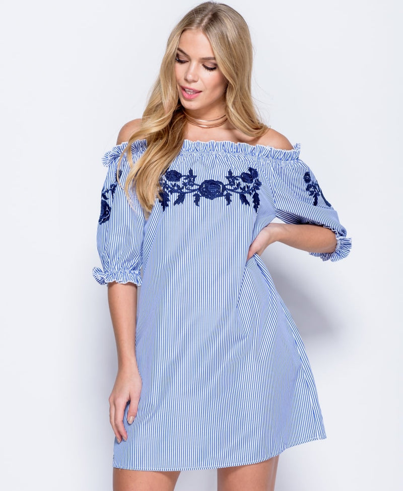 Bardot Blue Dress
