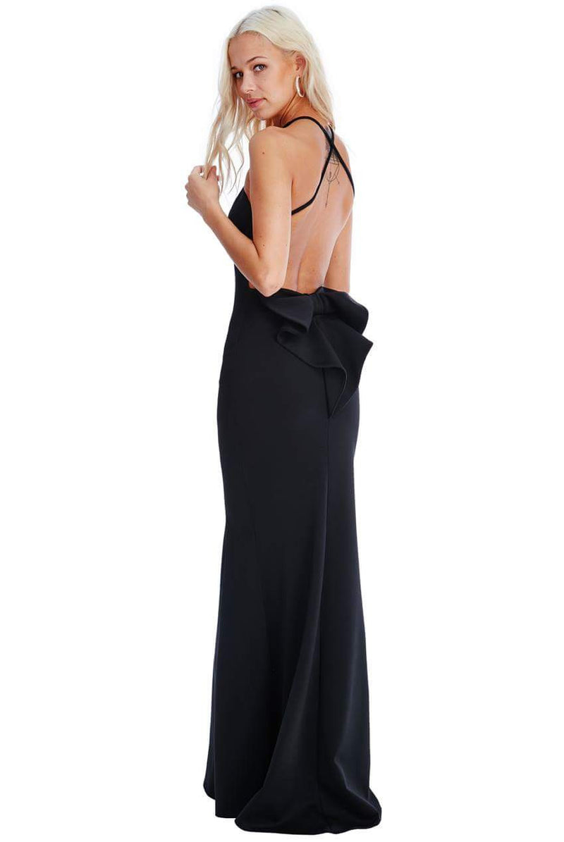Goddiva Bow Detail Maxi Dress - Cocktail Evening Dresses - Glitzy Angel