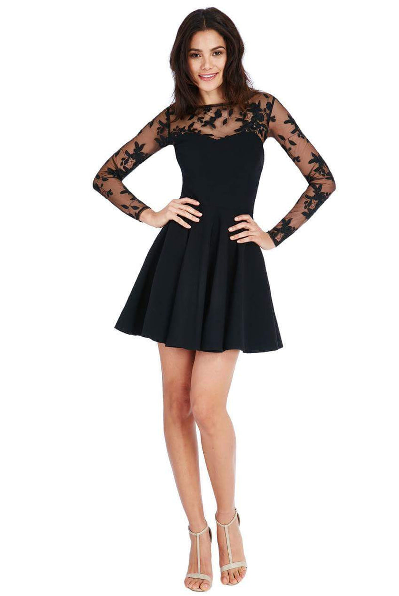 Goddiva Mesh Skater Dress - Party Dresses - Glitzy Angel