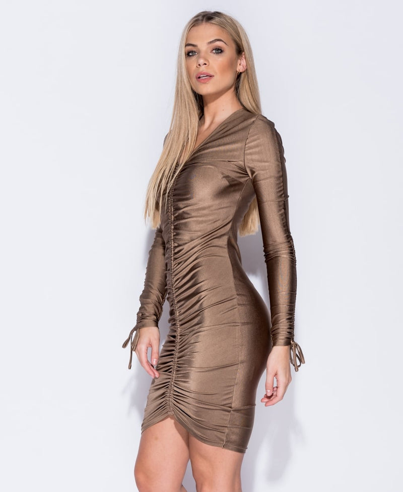 Bronze Long Sleeved Dress