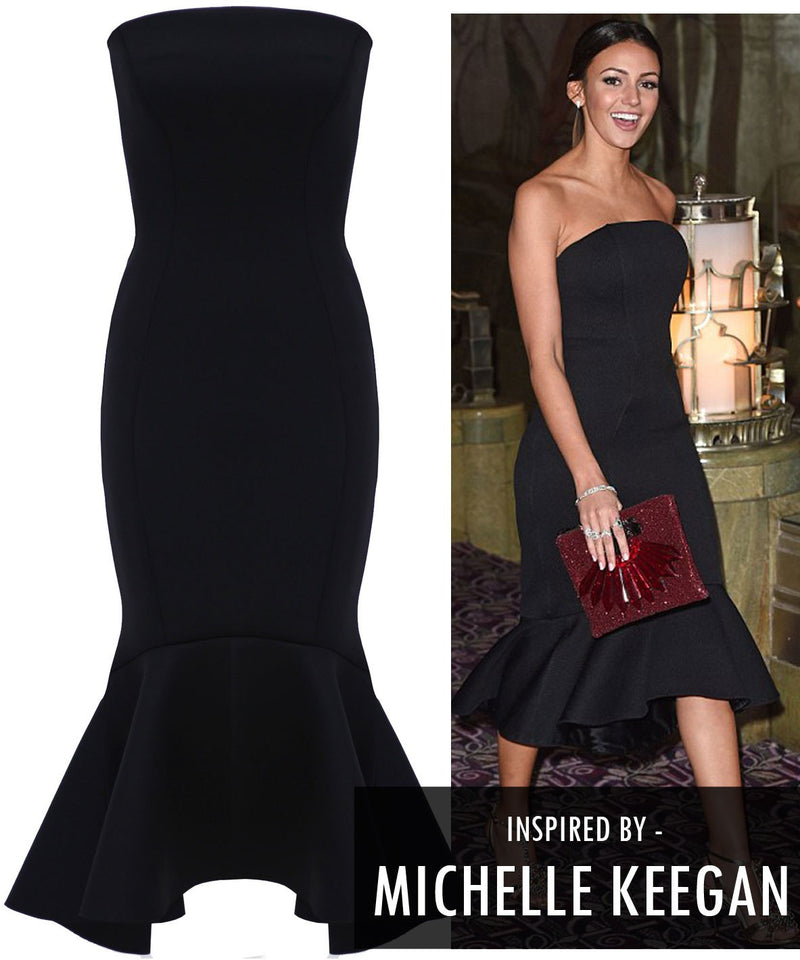 Michelle Keegan Bandeau Dress - Glitzy Angel
