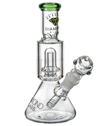 Diamond Glass | Short Neck UFO Beaker Bong | Sesh Sensei