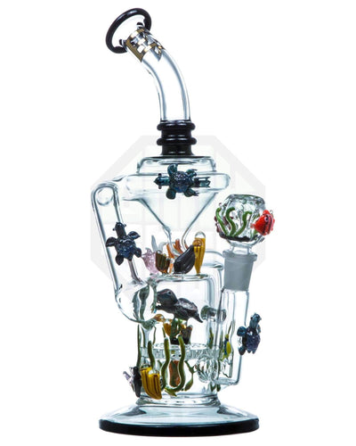 Empire Glassworks | California Current Turtle's Recycler Bong | Sesh Sensei