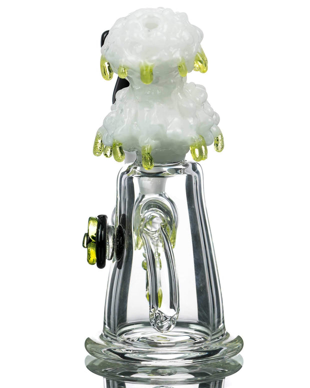 Empire Glassworks | Radioactive Cloud Mini Bong with Nuke
