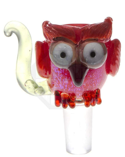 Empire Glassworks | Red Owl Glass Bowl | Sesh Sensei