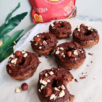 Vegan Nutella Protein Donuts