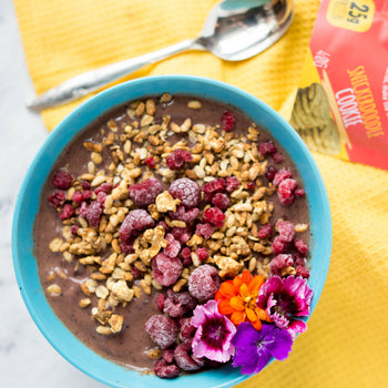Blueberry Snickers Smoothie Bowl