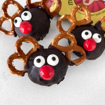 No Bake Reindeer <br> Bliss Balls