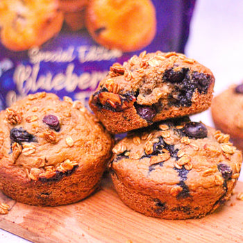 Double Blueberry <br> Protein Muffins