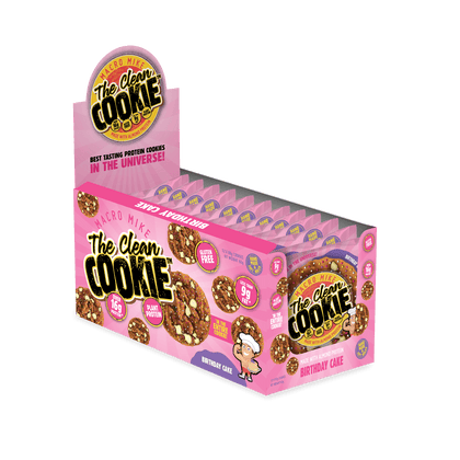 The Clean Cookie - Birthday Cake - (Box of 12 x 60g)