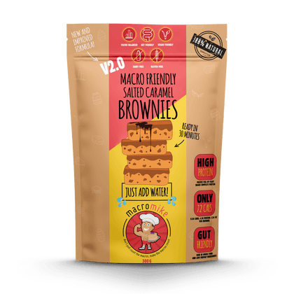 V2 Salted Caramel Brownie Mix (300g Bag)