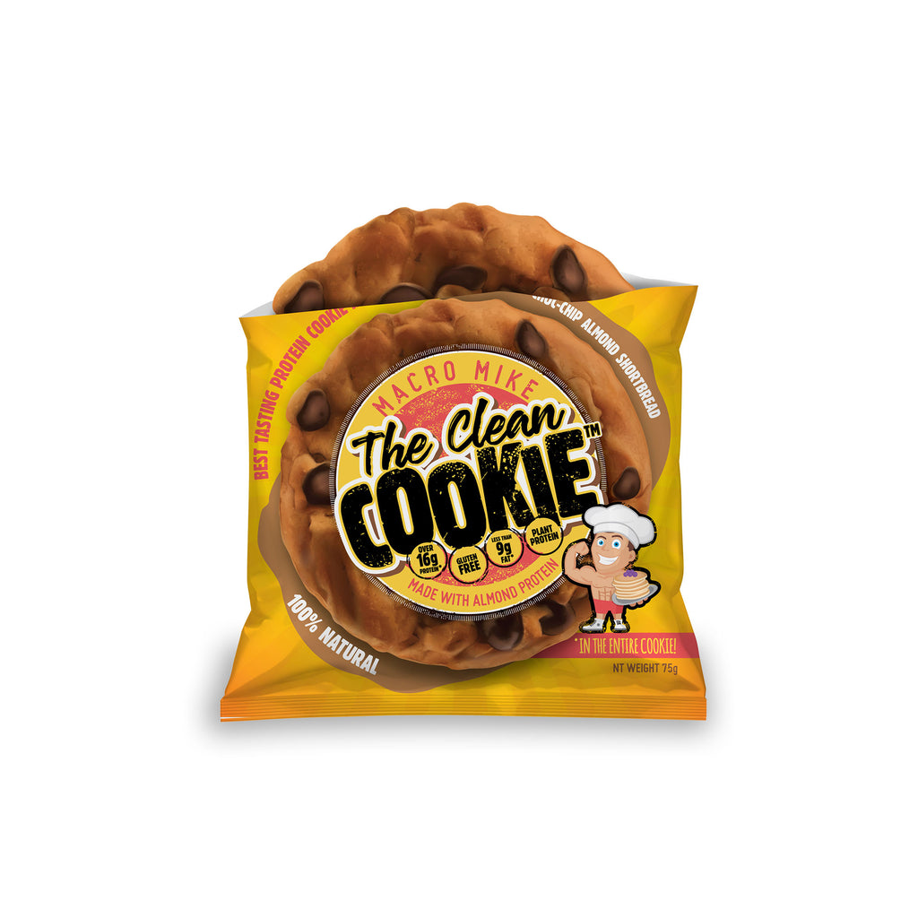 The Clean Cookie - Choc-Chip Almond Shortbread - (Box of 12 x 75g)
