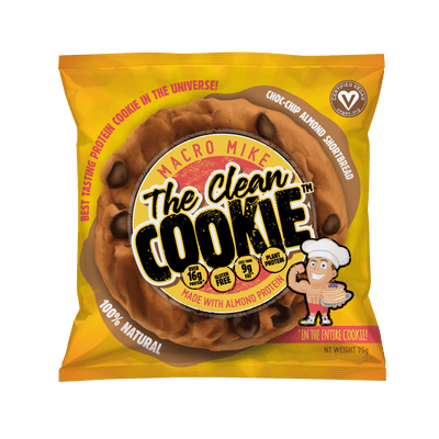 The Clean Cookie - Choc-Chip Almond Shortbread (1 x 75g)