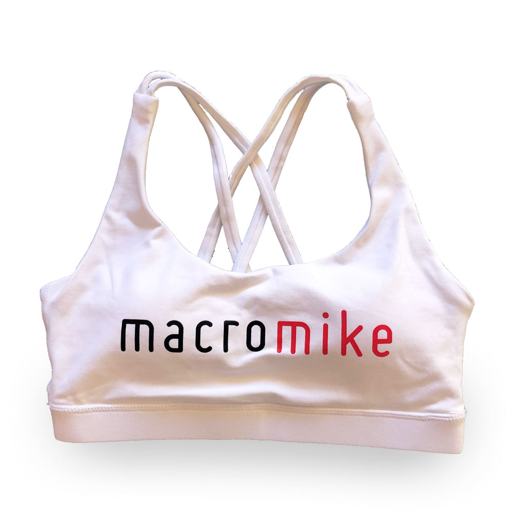 Macro Mike Sports Bra - White