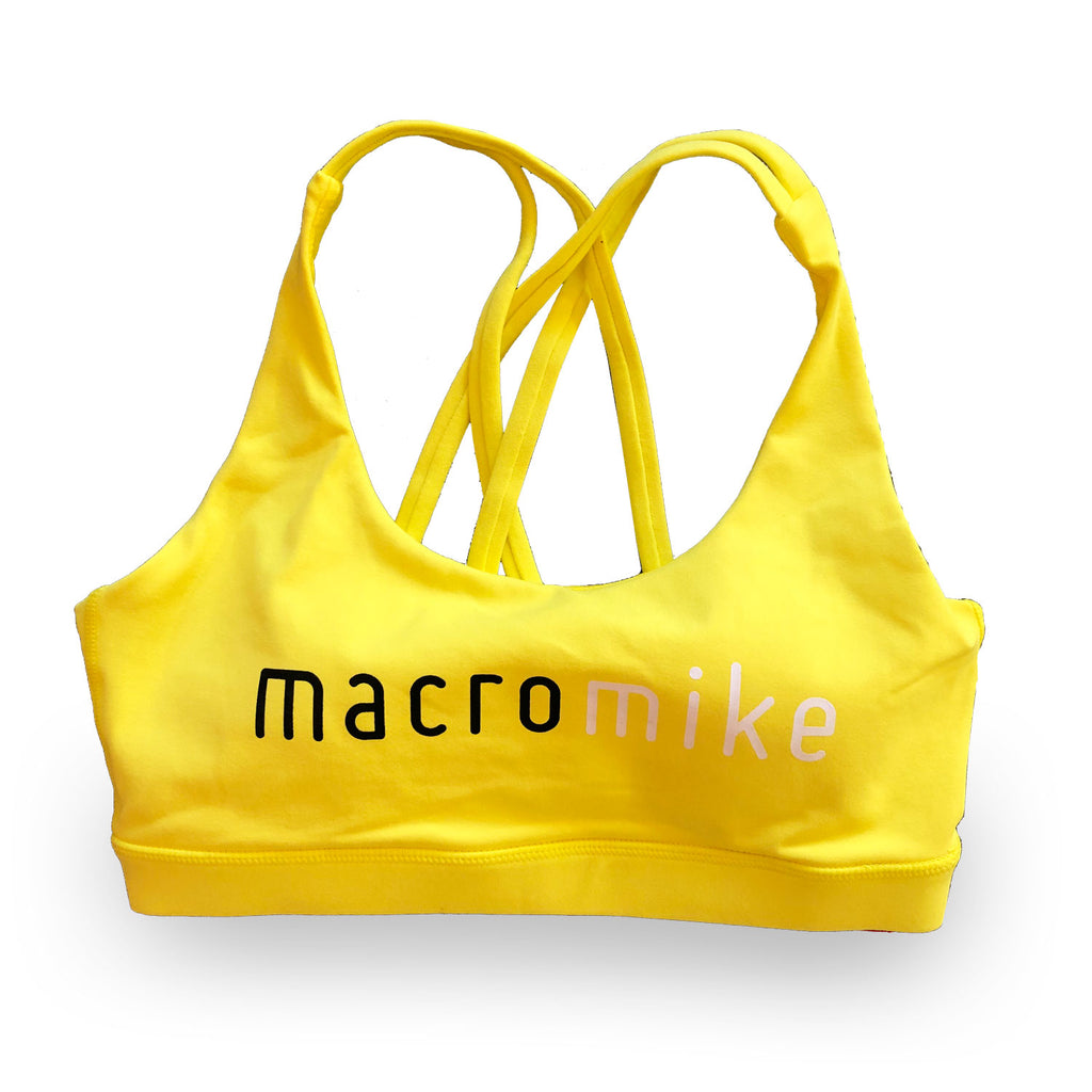 Macro Mike Sports Bra - Yellow