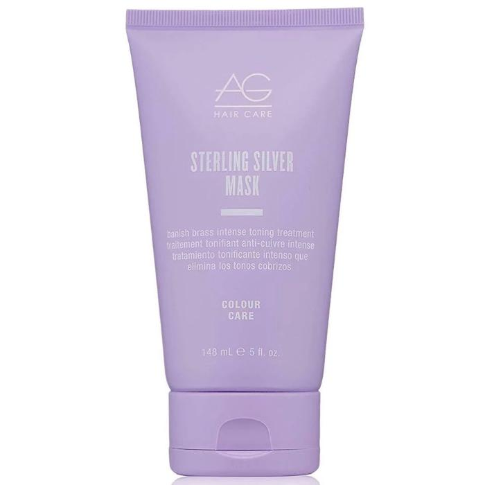 AG Hair Care Sterling Silver Mask Banish Brass Intense Toning Treatment 5oz / 148mL