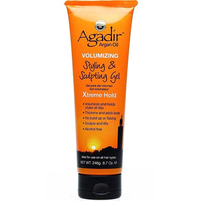 Agadír Argan Oil Volumizing Styling & Sculpting Gel Xtreme Hold 8.7oz / 246g