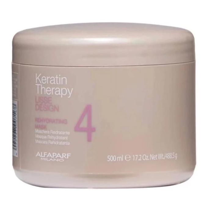 Alfaparf Milano Keratin Therapy Rehydrating 4 Mask 17.2oz / 500ml / 488.5g