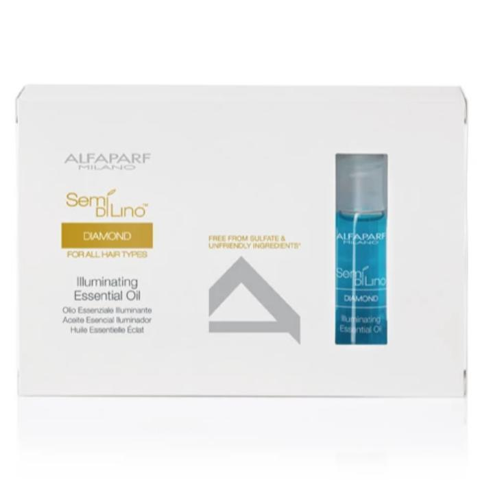 Alfaparf Milano Semi Di Lino Diamond Illuminating Essential Oil 12 Ampoules 0.43oz
